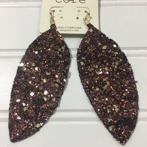 Jewelry - Shimmer Leaf Earrings